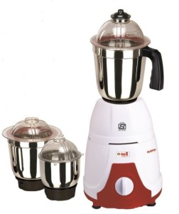 Allwyn Digi1 750 W Mixer Grinder White,Red, 3 Jars