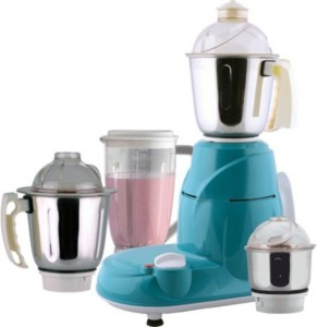 Anjalimix Foure Square 750 W Mixer Grinder Green, 4 Jars