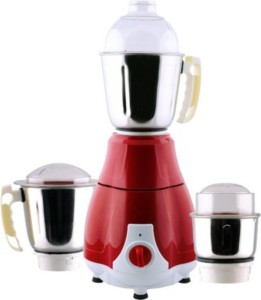 Anjalimix Pearl 750 W Mixer Grinder Red, 3 Jars