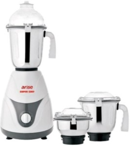Arise Super Chef 750 W Mixer Grinder White-Grey, 3 Jars