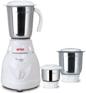 Arise Super Mate 550 W Mixer Grinder White, 3 Jars