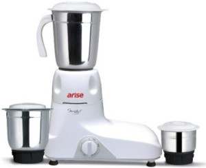 Arise Super Max 550 W Mixer Grinder White, 3 Jars