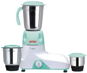 Arise Super Max Dlx 550 W Mixer Grinder Multicoloured, 3 Jars