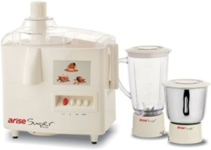 Arise Super Plus 550 W Juicer Mixer Grinder White, 2 Jars