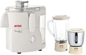 Arise Super Smart 550 W Juicer Mixer Grinder White, 2 Jars
