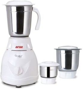Arise Super Versa 550 W Mixer Grinder White, 3 Jars