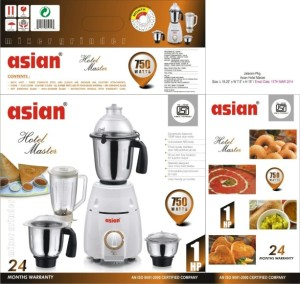 Asian Hotel Master 750 W Mixer Grinder