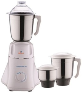 Bajaj Easy with 3 Jars 500 W Juicer Mixer Grinder White, 3 Jars