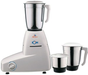 Bajaj ION 500 750 W Mixer Grinder Black, 3 Jars