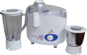 Bajaj Majesty JMG 750 W Juicer Mixer Grinder White, 2 Jars