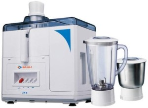 Bajaj Majesty JX5 450 W Juicer Mixer Grinder White, 2 Jars