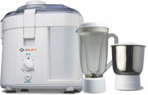 Bajaj Majesty JX6 450 W Juicer Mixer Grinder White, 2 Jars
