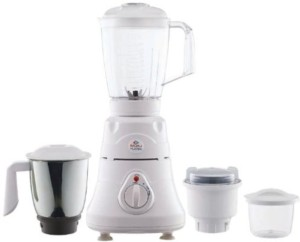 Bajaj Platini PX 72MPC with 4 Jars 600 W Juicer Mixer Grinder White, 4 Jars
