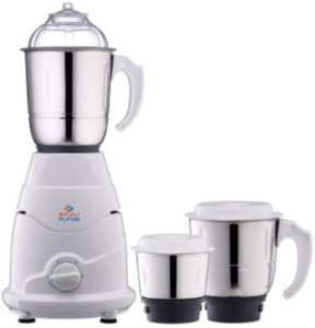 Bajaj Platini PX 75M with 3 Jars 500 W Juicer Mixer Grinder White, 3 Jars