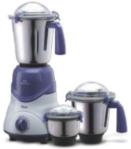Bajaj Trio 500 W Juicer Mixer Grinder Grey, 3 Jars