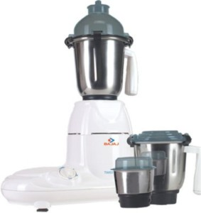 Bajaj Twister 750 W Mixer Grinder White, 3 Jars