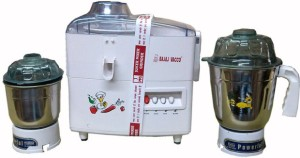 Bajaj Vacco JMG-01 With SS Jar & Grinder 500 W Juicer Mixer Grinder White, 2 Jars