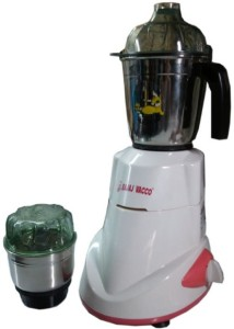 Bajaj Vacco M-02 Mixer Two in One 450 W Mixer Grinder White, 2 Jars