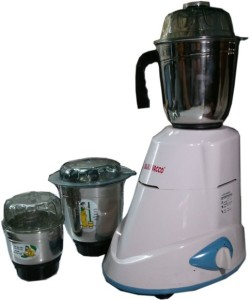Bajaj Vacco M-03 Mixer Three in One 500 W Mixer Grinder White, 3 Jars