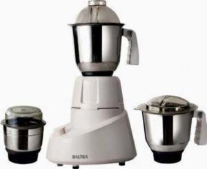 Baltra BMG-113 GRAVITY 550 W Mixer Grinder White and Blue, 3 Jars