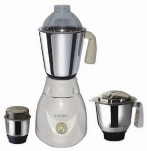 Baltra Speedo 500 W Mixer Grinder White, 3 Jars