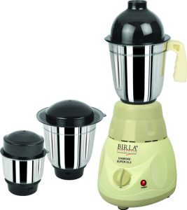 Birla Lifestyle Diamond Super Dlx 550 W Mixer Grinder Grey, 3 Jars