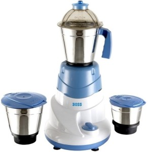 Boss Alltime 500 W Mixer Grinder White,Blue, 3 Jars