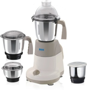 Boss B203 600 W Mixer Grinder Cream, 4 Jars