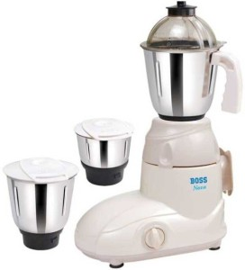 Boss B212 500 W Mixer Grinder Cream, 3 Jars