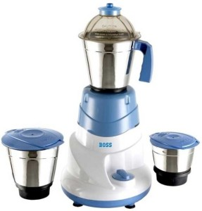Boss B222 500 W Mixer Grinder Blue, 3 Jars