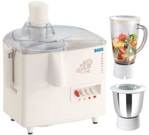 Boss B606 450 W Juicer Mixer Grinder White, 2 Jars