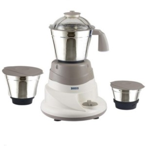 Boss Everyday 500 W Mixer Grinder White & Grey, 3 Jars