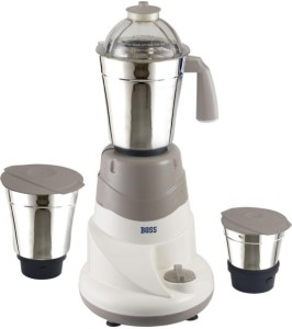 Boss Everyday 500 W Mixer Grinder White, 3 Jars