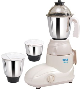 Boss Nova 500 W Mixer Grinder White, 3 Jars