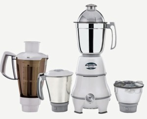 Butterfly Emerald 4 jar 550 W Mixer Grinder White, 4 Jars