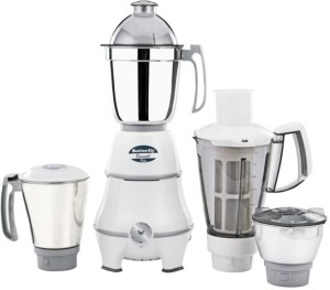 Butterfly Emerald Value 4 Jars 750 W Mixer Grinder White, 4 Jars