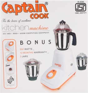 Captain Cook Ipl 500 W Mixer Grinder Pink, 3 Jars