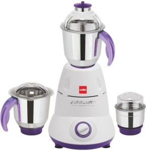 Cello Grind-N-Mix 500 550 W Mixer Grinder White, 3 Jars