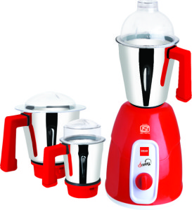 Cello Sunny 550 W Mixer Grinder Red, 3 Jars