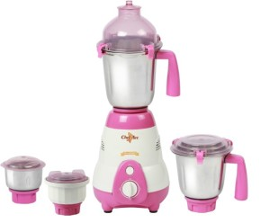 Chef Art CMG627 750 W Mixer Grinder White, Pink, 4 Jars