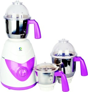 Crompton Greaves Taura-CG-TD71 750 Mixer Grinder White and purple, 3 Jars