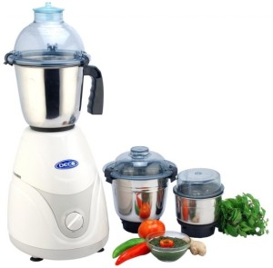 Deco Platinum 650 W Mixer Grinder White, 3 Jars