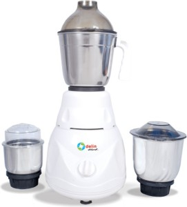 DELIN Tarzen 500 W Mixer Grinder off white, 3 Jars