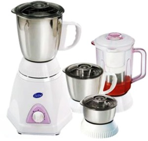 Glen GL-4026 600 W Mixer Grinder White, 4 Jars