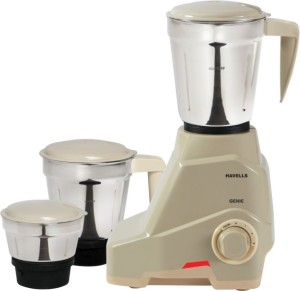Havells Genie 500 Mixer Grinder Grey, 3 Jars