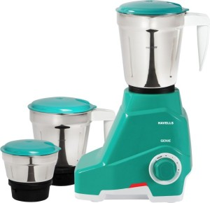 Havells Genie 500 Mixer Grinder Green, 3 Jars