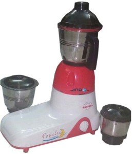 Jindal Popular 800 W Juicer Mixer Grinder Pink, 3 Jars