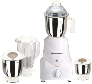 Jumbo Body1 750 W Mixer Grinder White, 4 Jars