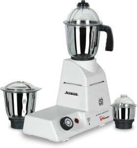 Jusal Winner 550 W Mixer Grinder White, 3 Jars
