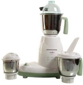 Kenstar Crystal PLUS 600 W Mixer Grinder White, 3 Jars
